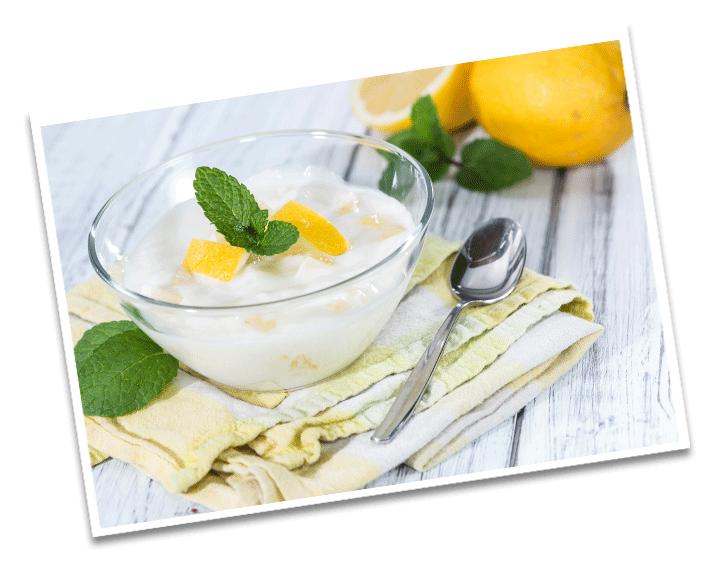 Joghurt Zitronen Dessert Detail